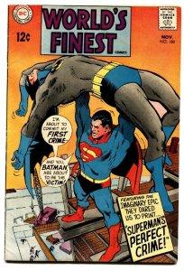 WORLDS FINEST #180 comic book 1968-SUPERMAN-BATMAN-NEAL ADAMS CVR