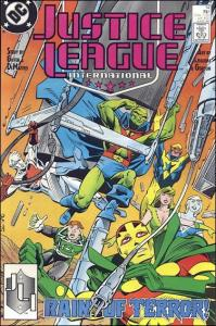 DC JUSTICE LEAGUE INTERNATIONAL (1987 Series) #14 VF/NM