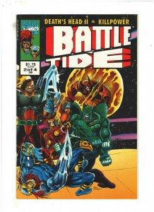 Battletide #2 VF/NM 9.0 Marvel UK 1993 Death's Head II & Killpower, Wolverine