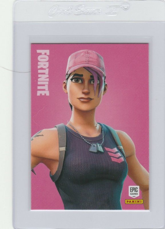 Fortnite Rose Team Leader 287 Legendary Outfit Panini 2019 trading card series 1