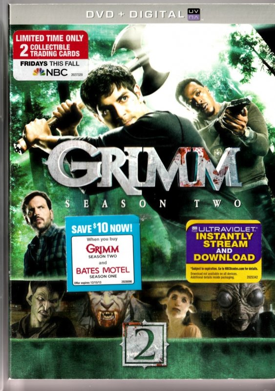 Grimm Season 2 DVD Series by Buffy and Angel Co-producer