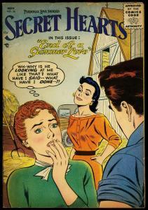 Secret Hearts #36 1956- DC Romance-  Love Triangle VG