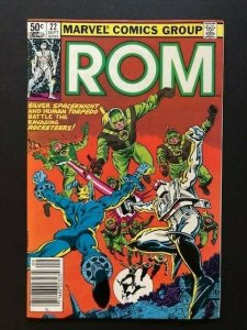 MARVEL ROM Spaceknight #22 Torpedo & Rocketeers Newstand Variant F/VF (A46)