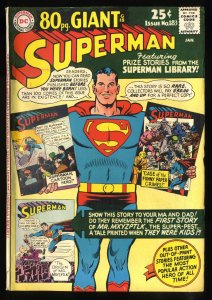 Superman #183 VG/FN 5.0 80 Page Giant G-18!