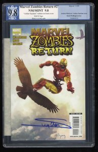 Marvel Zombies Return #2 PGX NM/M 9.8 White Pages Signed by Arthur Suydam!!