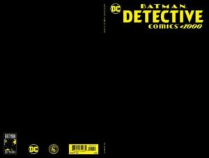 Detective Comics #1000 BLACK Blank Scorpion Comics