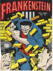 FRONT COVER ONLY: Frankenstein Comics #21 1952 Prize Publications Dick Briefer