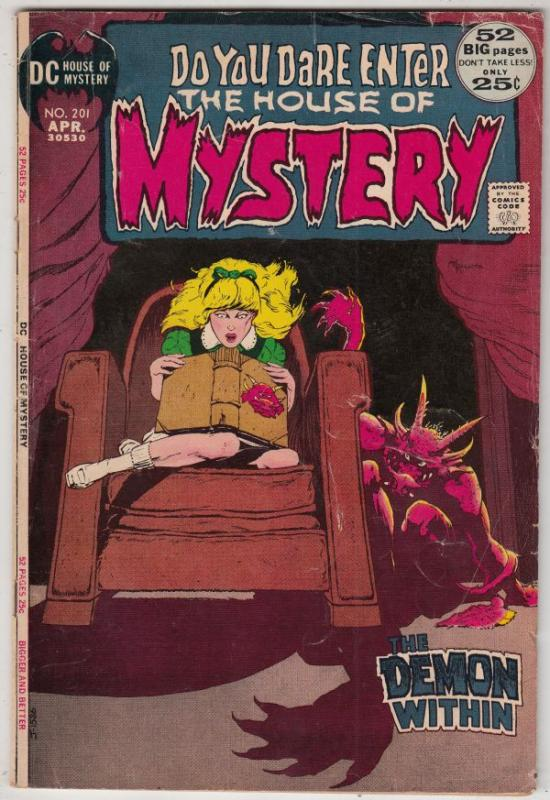 House of Mystery #201 (Apr-72) VG/FN Mid-Grade Cain