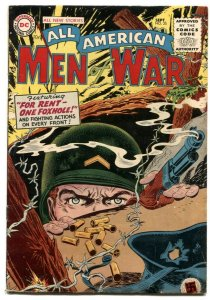 All-American Men Of War #25 1955- Foxhole cover FN-