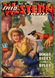 Speed Western Stories Pulp #1 January 1943- HJ Ward- Lawson G