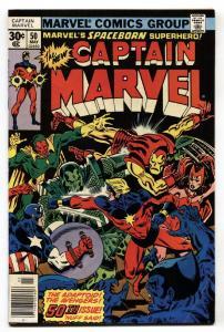 CAPTAIN MARVEL #50 First appearance Dr. Minerva VF- Marvel Comic