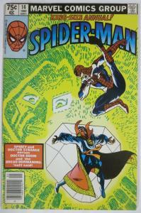 AMAZING SPIDER-MAN ANNUAL #14 (Marvel, 12/1980) (VG) Dr. Strange/Doom! F. Miller