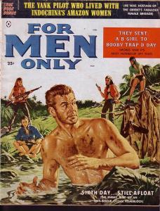 FOR MEN ONLY MAR 1959 JAMES BAMA COVER & INTERIOR ART VG