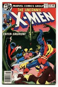 X-MEN #115 comic book 1978 SAURON-Wolverine