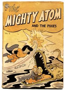 Mighty Atom #6-first issue-1949-alligator cover-rare ME comic