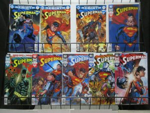 Superman (DC Rebirth 2017) Lot of 9Diff from #24-43 Man of Steel and Family