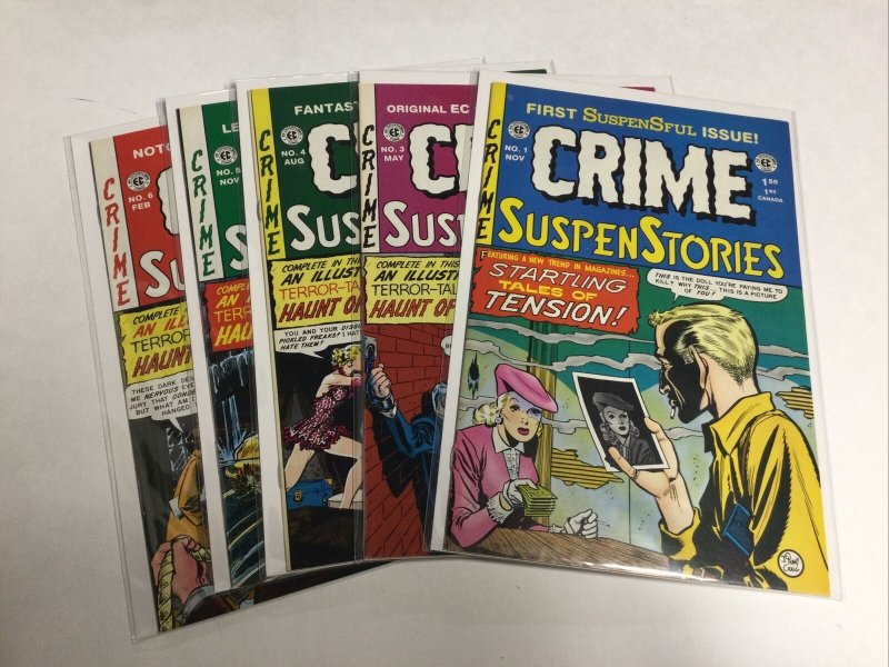 EC Comics Crime Suspenstories 1 3 4 5 6 Nm Near Mint Reprints