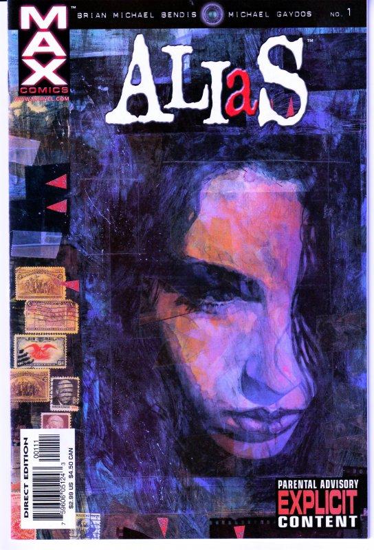 Alias(vol. 1) # 1 1st appearance of Jessica Jones !