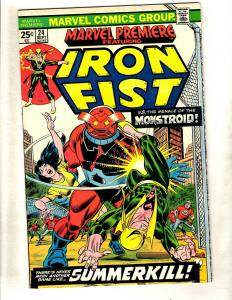 Marvel Premiere # 24 VF Comic Book Feat. Iron Fist Defenders Luke Cage WS9