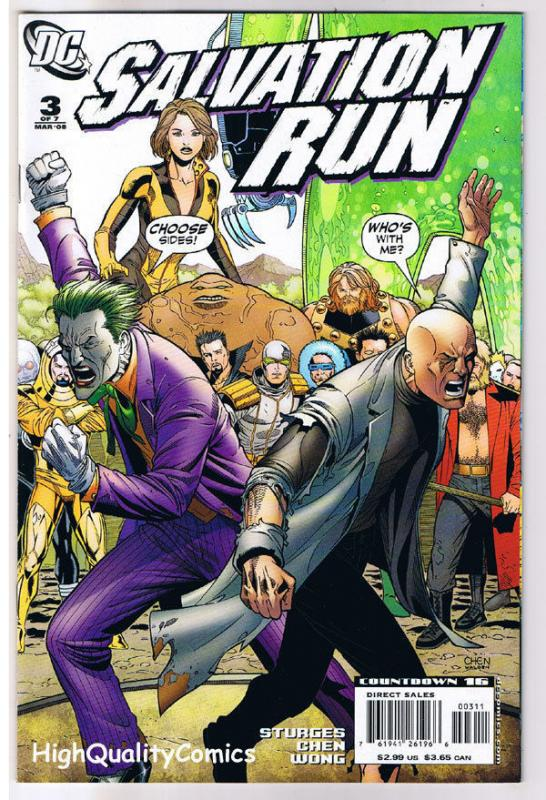 SALVATION RUN #3, NM-, Joker, Lex Luther, Hate, 2008