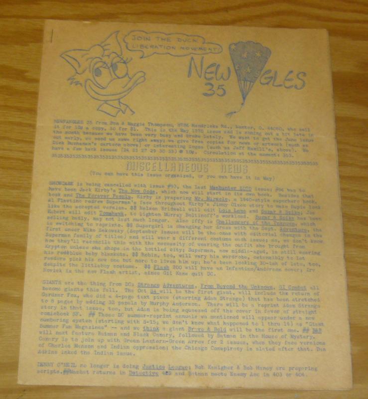 Newfangles #35 FN may 1970 fanzine - gary arlington's personal copy