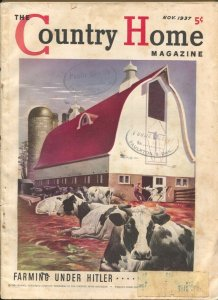 Country Home 11/1937-Crowell-farming cover by Thomas Benrimo-pulp fiction-Hit...