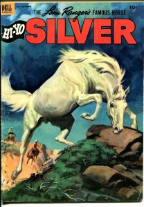 Lone Rangers Famous Horse Hi-Yo Silver-#7 1953-Dell-painted cover-FN/VF