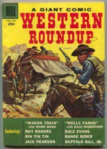 Western Roundup #22 1958- Wagon Train-Roy Rogers- VG