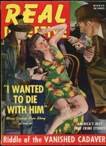 REAL DETECTIVE MAR 1941--FN--GREAT PHOTO COVER-SPICY-PULP-MAGAZINE FN