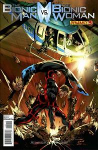 Bionic Man Vs. The Bionic Woman, The #5B VF/NM; Dynamite | save on shipping - de