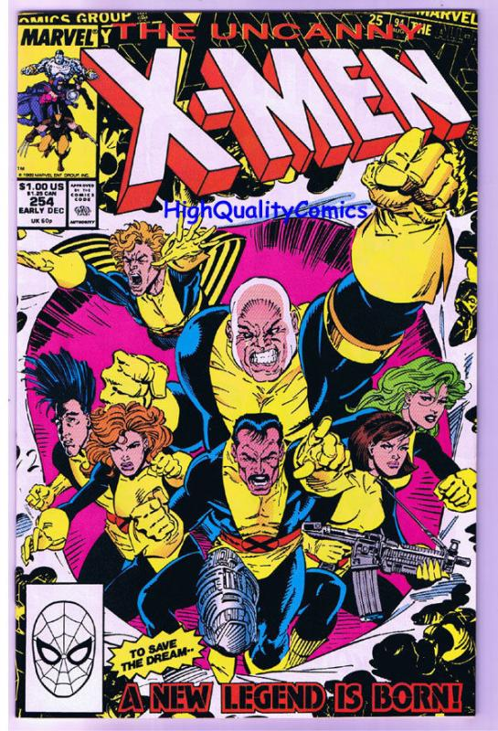 X-MEN #254, VF, Wolverine, Jim Lee, Claremont, Uncanny, more in store