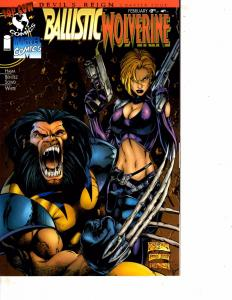 Lot Of 2 Comic Books Image Ballistic Wolverine #1 and  Banished Knights #1  MS9