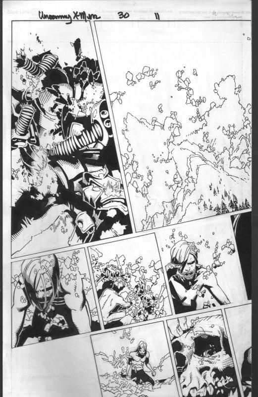 Uncanny X-Men #30 Pages 11 & 12- Original Comic Book Art 2013-Bachalo-Al Vey-FN