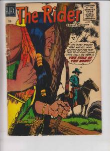 the Rider #2 GD august 1957 - native american on cover - western cowboy ajax