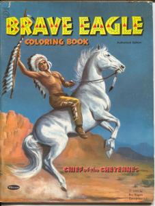 Brave Eagle Coloring Book #1314 1955-Roy Rogers Enterprises-unused-FN