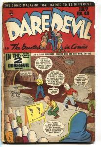 Daredevil #49 1948-Lev Gleason-Superhero story-hooded menace-Maurer-
