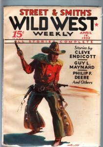 WILD WEST WEEKLY-4/16/1932-PULP-GUY MAYNARD VF