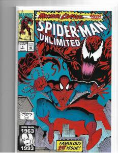 SPIDER-MAN UNLIMITED #1 - NM - KEY CARNAGE, VENOM 1ST APP SHRIEK - MODERN KEY