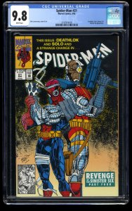 Spider-Man (1990) #21 CGC NM/M 9.8 White Pages