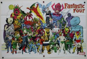 Fantastic Four & Villains Collage Folded Promo Poster [P45] (36 x 24) - New!