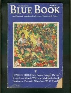 BLUE BOOK PULP-9/1934-JUNGLE GIRL COVER-DARKTOWN STORY G