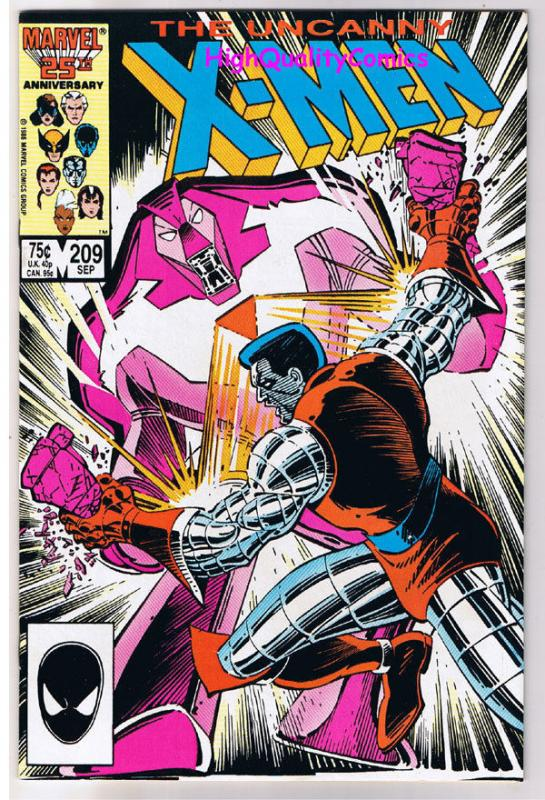 X-MEN #209, VF, Wolverine, Chris Claremont, Uncanny, more in store