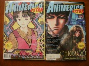 3 Sealed ANIMERICA EXTRA Comic Magazine: Volume 3 #7 & #11 + Vol. 5 #7 Anime Art
