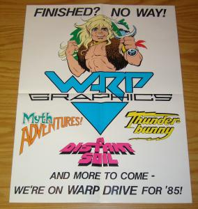 Warp Graphics promotional poster - 22 x 17 - elfquest - a distant soil 1985