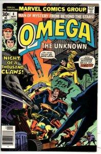 OMEGA the UNKNOWN #4, VF/NM, El Gato, Jim Mooney, 1976