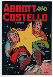 ABBOTT AND COSTELLO COMICS 3, F+ (6.5), 1948 ST JOHNS, COOL SCI FI COVER