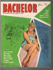 Bachelor 3/1962-cheesecake-pulp fiction-exploitation-Ted Mark-J.T. Farrell-G/VG