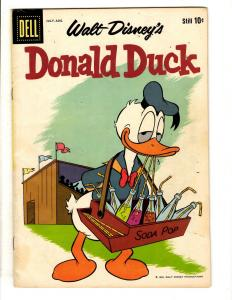 Donald Duck # 66 VF Dell Silver Age Comic Book Walt Disney Mickey Mouse JL10