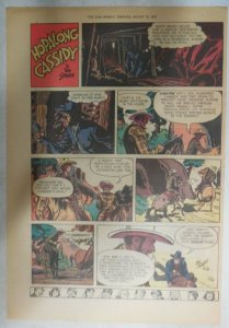 Hopalong Cassidy Sunday Page by Dan Spiegle from 8/17/1952 Size: 11 x 15 inches