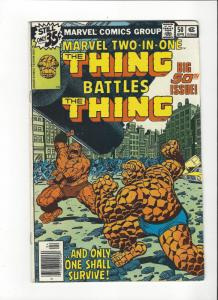 Marvel Two In One #50 Marvel Comics Thing Vs Thing Byrne Art FN/VF